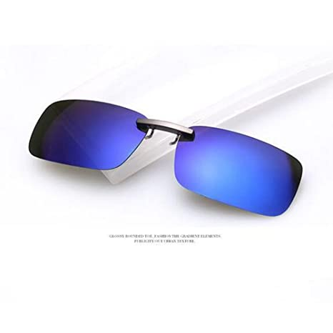 zimo Rapid Eyewear Lunettes de soleil unisexe Clip lunettes Embout polarisant pour porteurs de lunettes UV400 Bleu N9f65A0A