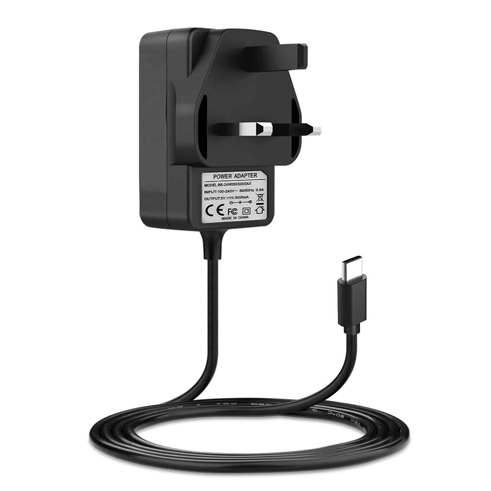 2GB 4GB Power Supply USB C BENSN 5V 3A Replacement for Raspberry Pi 4 Model B 1GB Charger Cable. Type C
