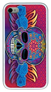 IMARTCASE iPhone 4S Case, Day Of The Dead Skull And Rose Poster Case for Apple iPhone 4S/5 TPU - White by lolosakes by lolosakes