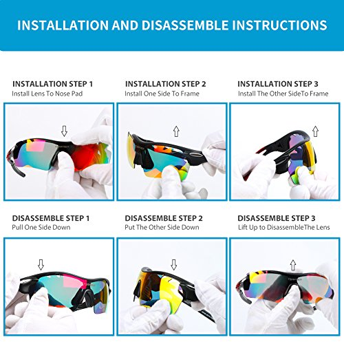 b2a4ab148e Polarized Sports Sunglasses 2 Pairs for Men Women Cycling Running Driving  Fishing Golf Baseball (Grey