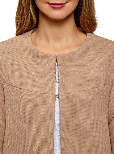 3500n Ultra Beige Jacket Wide Oodji Crochet Woman With dCnxd4aR
