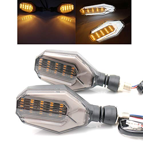 - evomosa Universal 12 LED Turn Signal Lights Blinker Front Rear Lights for Motorbike Motorcycle Harley Cruiser Honda Kawasaki BMW Yamaha Suzuki Pairs