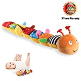 Image of LIGHTDESIRE Musical Caterpillar Toy [Newest] Rattle with Ring Bell for Preschool