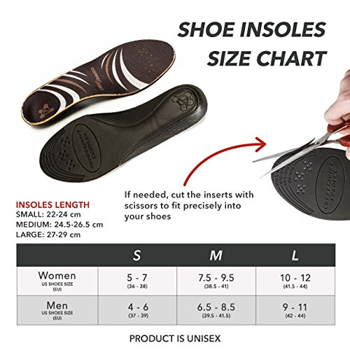 CopperJoint - Copper-Infused Orthotic Insoles, Moisture Wicking Shoe Inserts Offer Firm Arch Support to Help Relieve Foot Soreness, Pair (Large) by CopperJoint (Image #2)