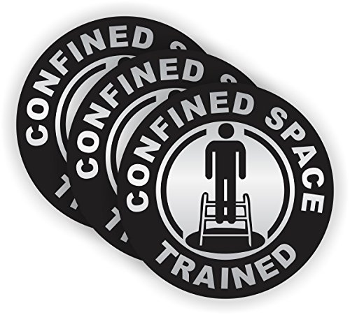 Confined Space Trained Hard Hat Sticker / Helmet Decal Label Lunch Tool Box