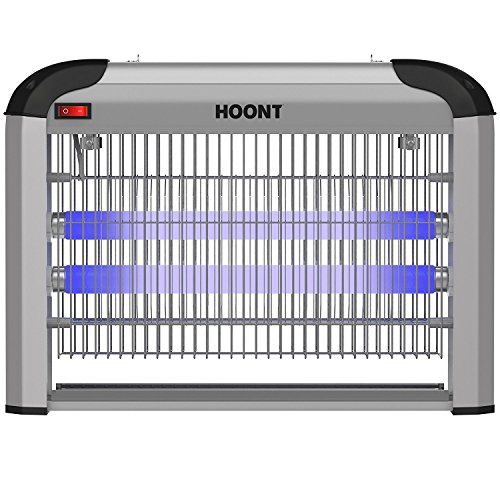 Hoont Powerful Electric Indoor Bug Zapper and Fly Zapper Catcher Killer Trap - Protects 6,000 Sq. Ft / Bug and Fly Killer, Insect Killer, Mosquito Killer - for Residential and Commercial Use