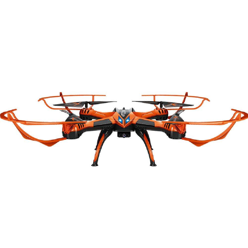 ILYO Luft Drohne Flugzeug Spielzeug Fernbedienung Drohne Vier-Achsen-Festpunkt Feste High-Key Auf Und Ab Luftbildfotografie Headless-Modus 2.4G Unbemannte Fernbedienung Flugzeuge,Orange