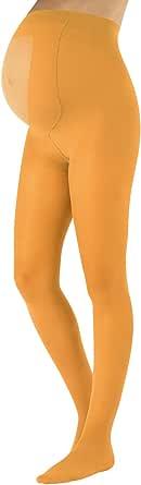 CALZITALY Medias Invernales Premama   Panty Para Futura Mama   100 DEN   Negro, Amarillo, Naranja, Verde, Rosa   S, M, L, XL   Calcetería Italiana  