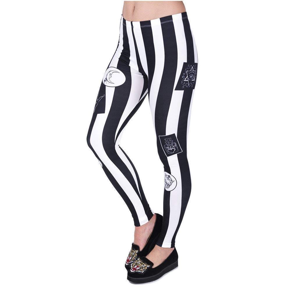 Pantalones De Yoga Raya De Mujer con Parches Ropa Estampado ...