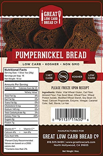 keto diet pumpernickel bread