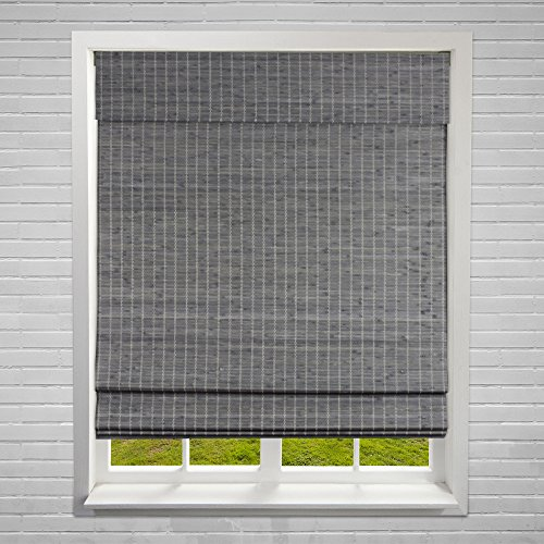 "Calyx Interiors A04CBP260600 Cordless Bamboo Blind, 26"" W x 60"" H, Privacy Grey-Brown"