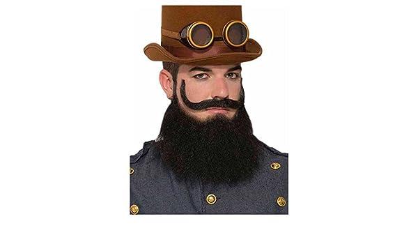 Steampunk General Jax Beard /& Moustache Set Facial Hair Cosplay