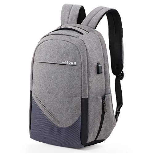 Laptop Backpack, Sosoon Business Bags with USB...