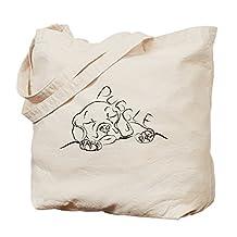 CafePress - Puggle Art - Natural Canvas Tote Bag, Cloth Shopping Bag