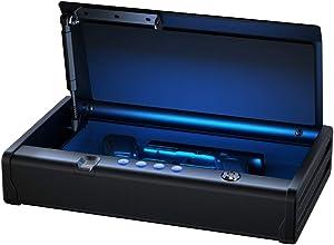 SentrySafe QAP2BEL Gun Safe with Biometric Lock, 2 Capacity & Interior Light