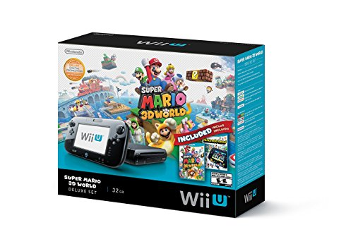 Nintendo Wii U Deluxe Set: Super Mario 3D World and Nintendo Land Bundle – Black 32 GB (Renewed)