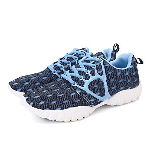tacco da esterno Blue per libero 2018 Jiuyue EU tempo Color Sneaker con da e Autunno Dimensione il Light 36 shoes donna lacci Estate Scarpe piatto uomo e sportive da xqYtYOZBHw
