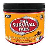 Survival Tabs 7 Day 90 Tabs Emergency Food Survival Food Meal Replacement MREs Gluten Free and Non-GMO 25 Years Shelf Life Long Term Food Storage - Chocolate Flavor