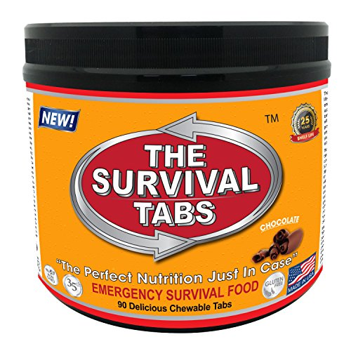 (Emergency Food Supply - 7 days Survival Food for Emergency Situation - Gluten Free and Non-GMO 25 Years Shelf Life (90 tabs -)