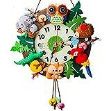 treasure-house bambini DIY orologio da parete Mcloth Art Aterial set Fun foresta orologio da parete Cartoon Animal orologio da parete