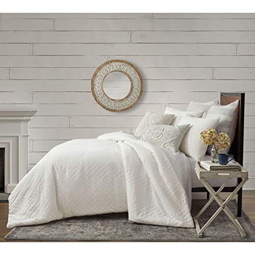 Comforter Willow - Bee & Willow Home Matelassé Geometric Full/Queen Comforter Set in Coconut Milk