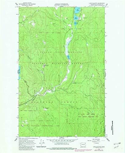 YellowMaps Lake Gillette WA topo map, 1:24000 Scale, 7.5 X 7.5 Minute, Historical, 1966, Updated 1982, 26.9 x 22 in - Tyvek