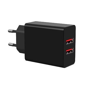 Easy-Link Cargador USB, Cargador Móvil 2 Puertos 30W 5V 6A ...