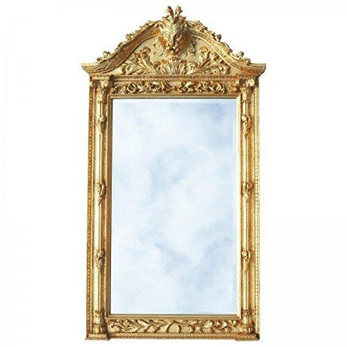 Opulent Barock Spiegel Gold Löwenkopf Luxus Wandspiegel Standspiegel 190cm