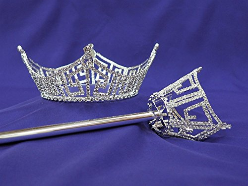 America Pageant Crown and Scepter Set Mid Size by TiaraTown