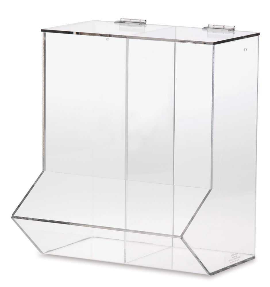 Clearform ML6600 Acrylic Wall Dispenser for Needle Holders Double Compartment