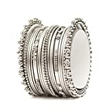 Latest Bollywood Designer Silver Tone 1 Pc Bangle Bracelet Indian Partywear Jewelry