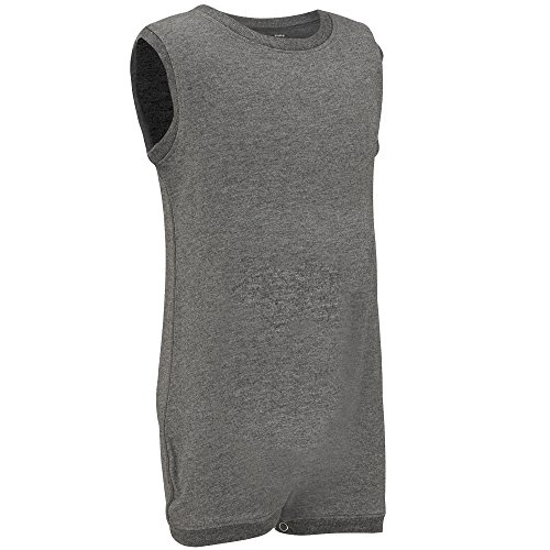 Special Needs Clothing for Older Children (3-16 yrs Old) - Sleeveless Bodysuit for Boys & Girls by KayCey - Grey (15-16 Years Old) (Marks And Spencer T-shirt)