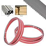 Timmart 70-1/2'' x 1/2'' x 0.025'' 14 TPI Bi-metal Bandsaw Blades for Cutting Metal 70.5'', 2-Pack