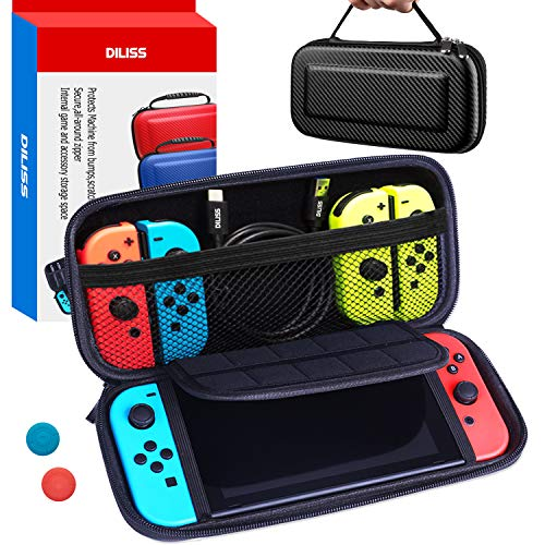 DILISS Carrying Case for Nintendo Switch Hard Case - Protective Hard Portable Travel Carry Case Shell Pouch for Nintendo Switch Console & Accessories Switch Case