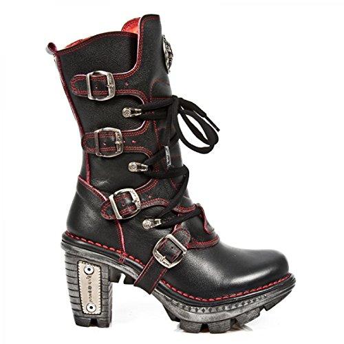New Rock Laarzen M.neotr005-c18 Gothic Hardrock Punk Damen Stiefel Schwarz