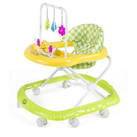 A~LICE&BW Andador para bebés, con Ruedas universales y Bandeja ...