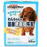 箱売り ドギーマン わんちゃんの国産低脂肪牛乳 200ml 1箱24本入り 犬 ミルク