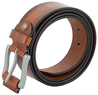 Leather Belt for Men - Heavy Duty Casual Full Grain Leather Belt - 39mm Wide - 120 (34, Brown)
