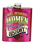 Spoontiques 15782 Well Behaved Women Flask, Fuchsia