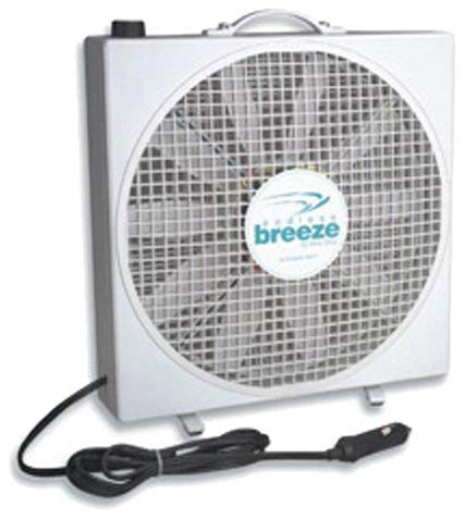 Fan-Tastic Vent 01100WH Endless Breeze - 12 Volt Fan (Marine Battery Box Small)