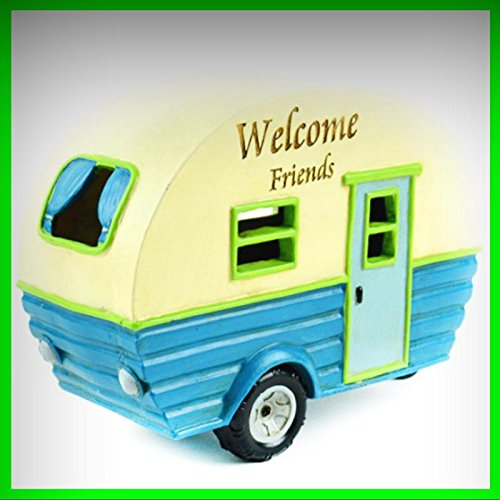 Fairy Garden Fun Camper ~ Welcome Friends LED Lighted - My Mini Fairy Garden Dollhouse Accessories for Outdoor or House Decor
