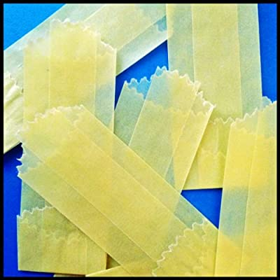 Yellow 22 mm Vellum Glassines Stamp Wax Paper 600 Waxed Bags Choose A Color Or Design