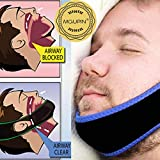 MQUPIN Adjustable Anti-Snore Stop Snoring Chin Strap Snore Stopper Belt Anti Apnea Jaw Solution Sleep Support for Men & Women Sleeping