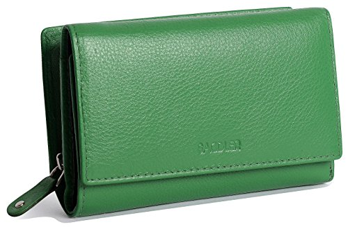 "SADDLER Ladies Jelly Bean 5 3/4"" Tri-Fold Wallet With Backsi"
