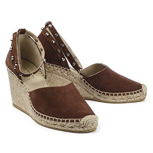 Buffalo Damen Schuhe Wedges 2693 Wedges Schuhe Keilabsatz Espadrilles Leder Nieten ... 5e2913