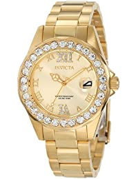 Invicta Women's 15252 Pro Diver Gold Dial Gold-Plated...