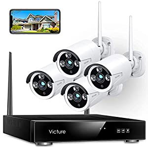 Flashandfocus.com 51IijUKzUWL._SS300_ Victure 1080P Wireless Security Camera System, 8 Channel NVR 4PCS Outdoor WiFi Surveillance Camera with IP66 Waterproof…