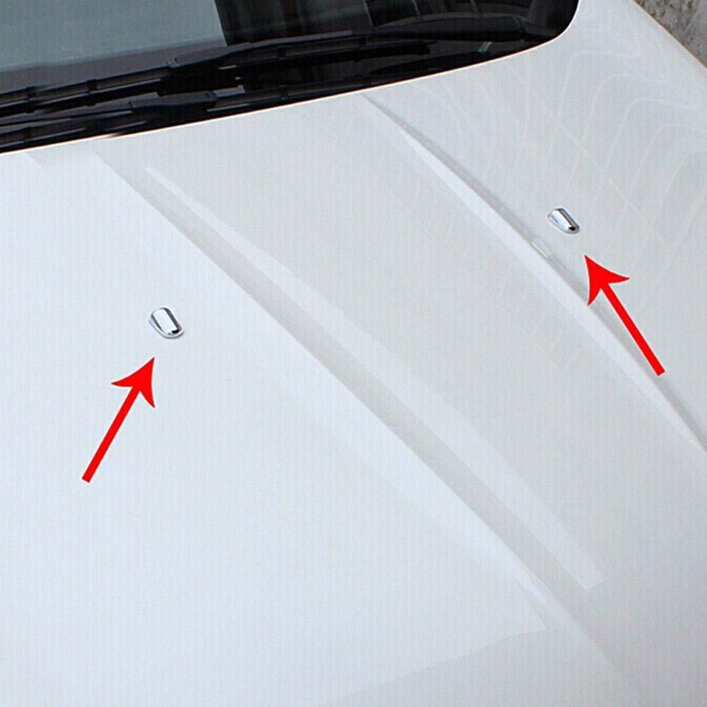 SinceY 2PCS Tergicristallo A Spruzzo Custodia Adesivi per Auto Decorazione Cromata ABS per Ford Fiesta 2009-2015