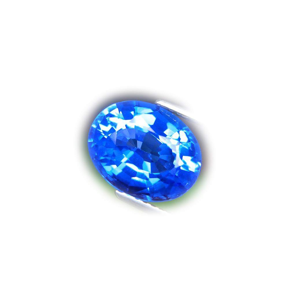 Lovemom Flawless 4.23ct Top Color Natural Oval Blue Topaz Brazil #AB
