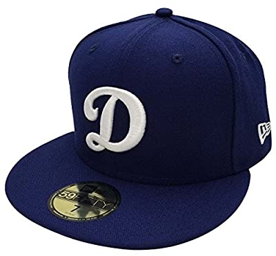 Oklahoma Los Angeles Dodgers Big D New Era 59FIFTY Fitted Cap Hat All Blue 7 1/8